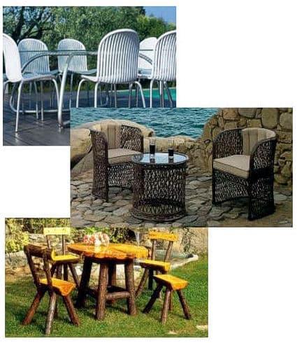 Sillas y mesas de terrazas madera y anea muebles for Mesas y sillas para terraza